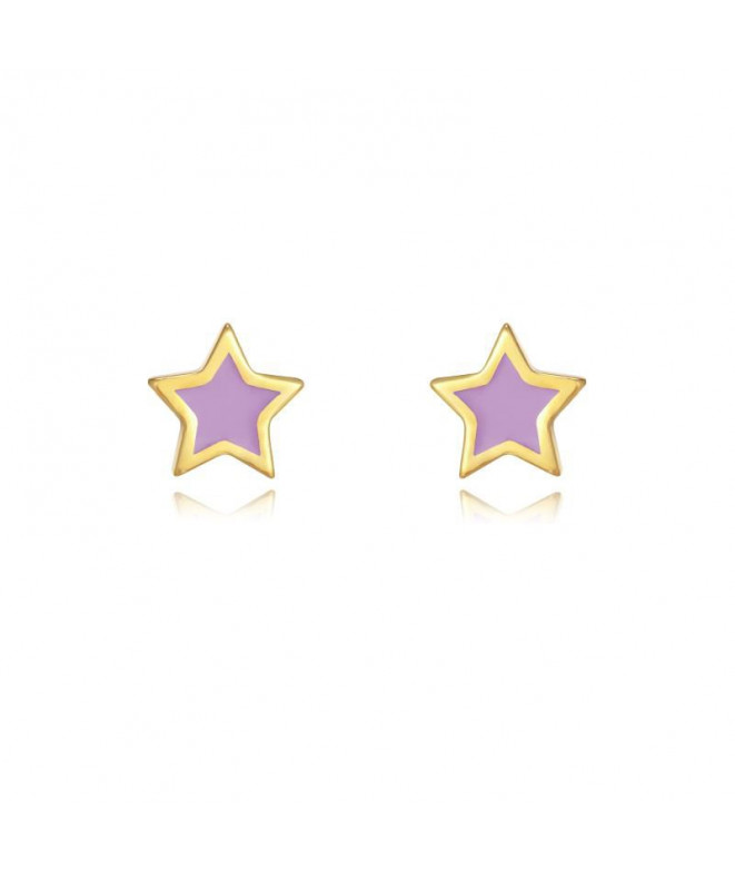 Pendientes Estrella Lila