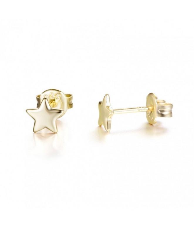 Pendientes Estrella Oro 5 mm