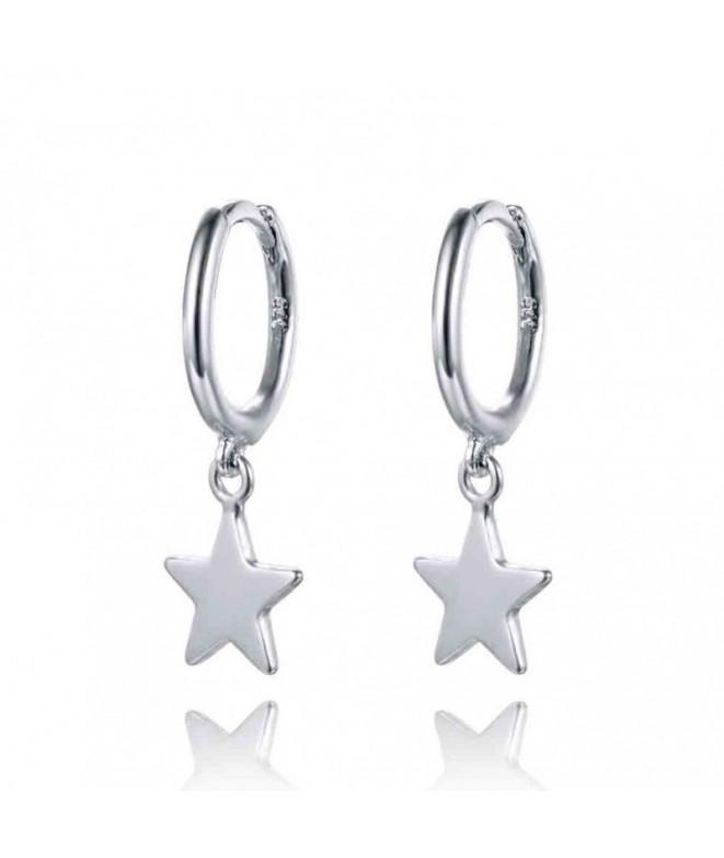 Pendiente Aro Estrella Plata