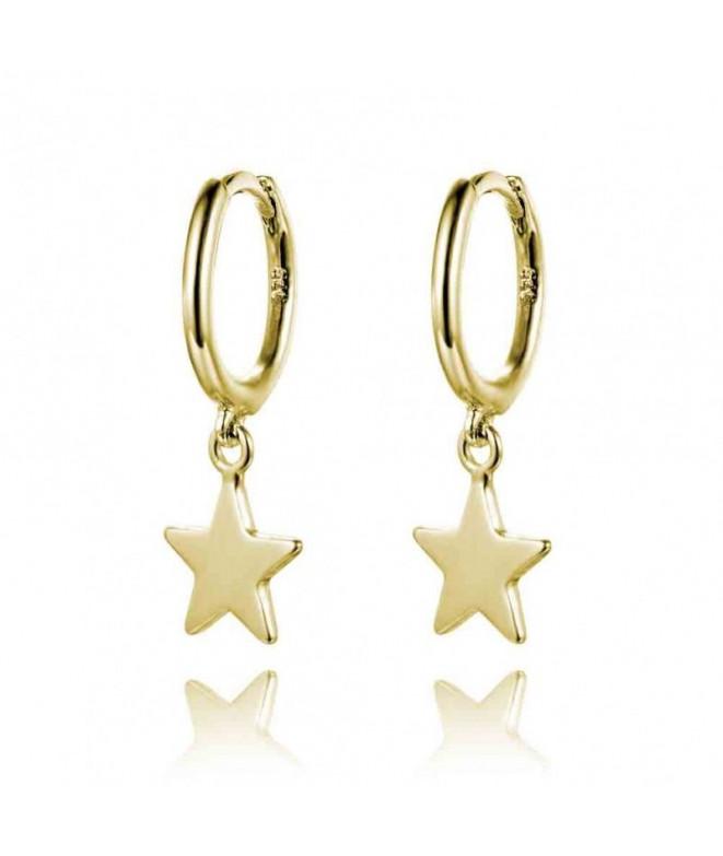 Pendientes Aro Estrella Oro