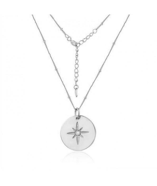 Colgante Estrella Circonita Plata