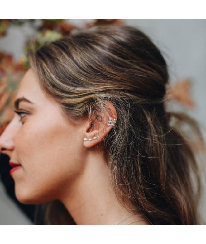 Ear cuff Circonitas Clip Plata