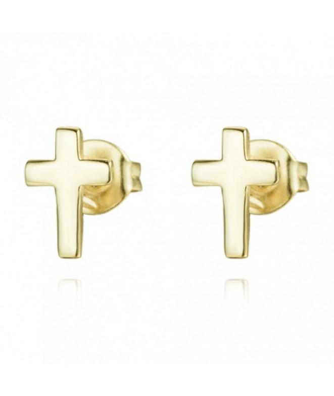 Pendientes Cross Oro