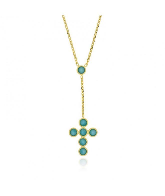 Colgante Turquoise Cross