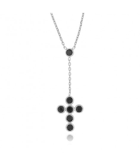 Colgante Black Cross Plata