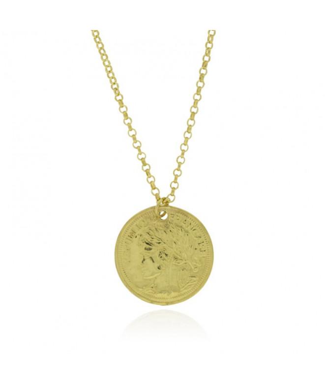 Colgante Medalla Francaise Oro