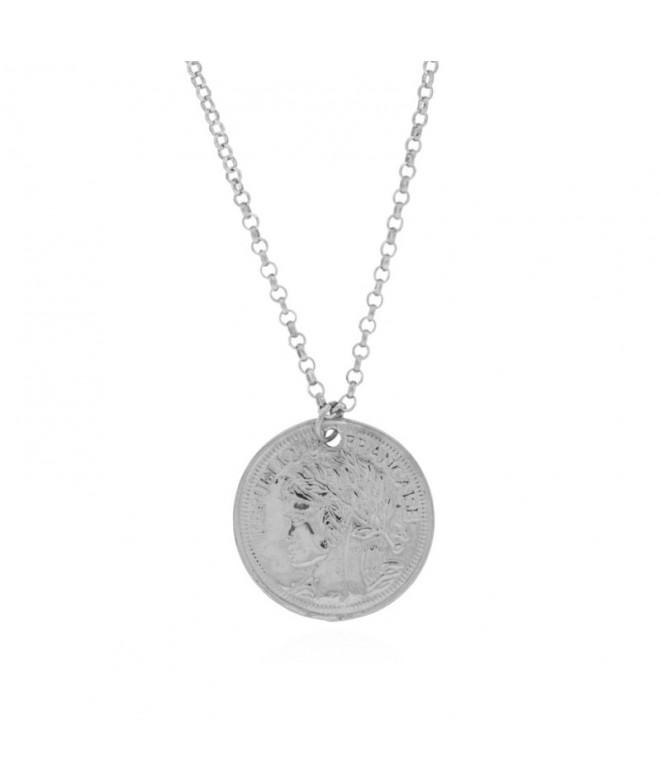 Colgante Medalla Francaise Plata