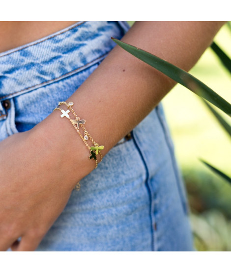 Pulsera Cross Oro