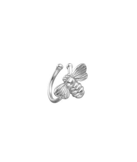 Ear cuff Abeja Plata