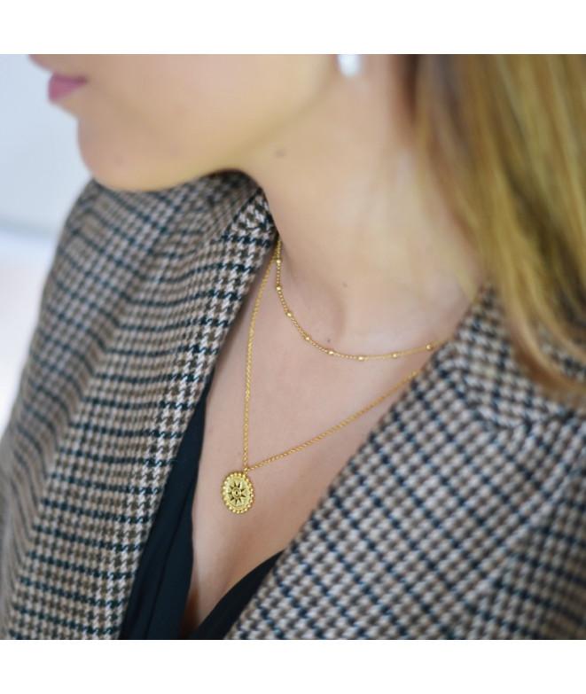 Cadena Pearl Oro