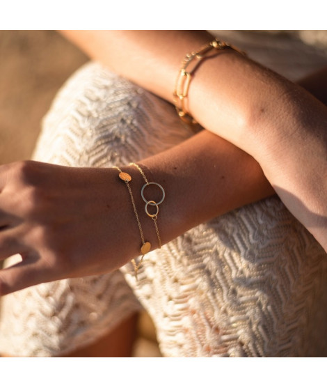 Pulsera Double Ring Oro