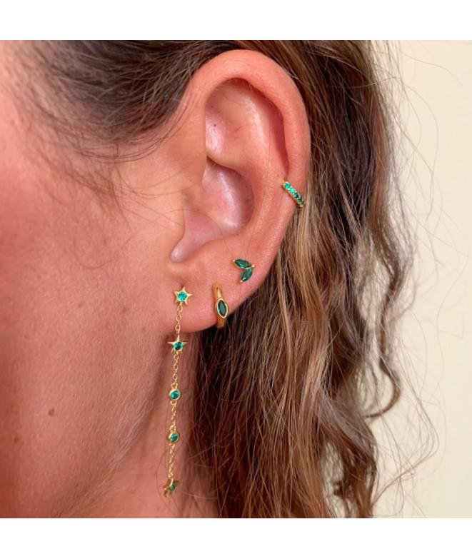 Pendientes Arito Circonitas Green