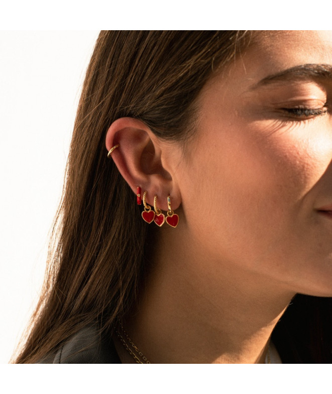 Pendientes Gallon Red Love