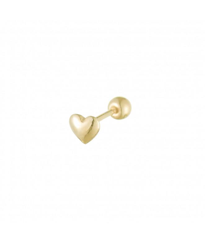 Pendientes Love Rosca Oro