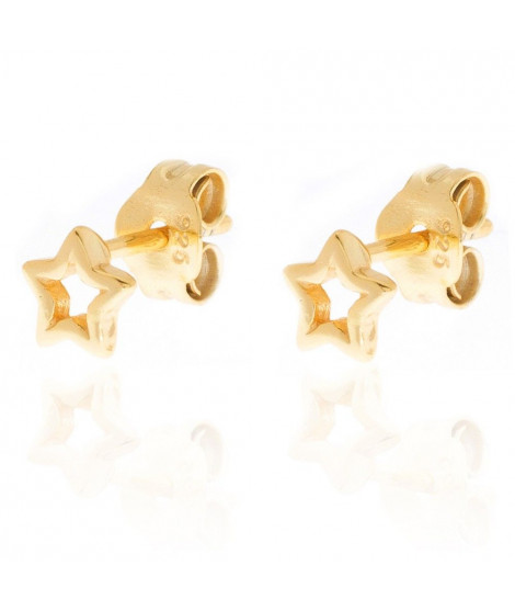 Pendientes Estrella Calada Oro
