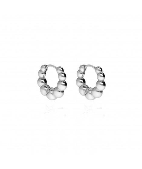 Pendientes Mini Pearls Plata