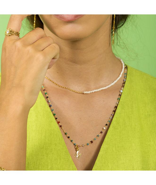 Collar Perlas Acero