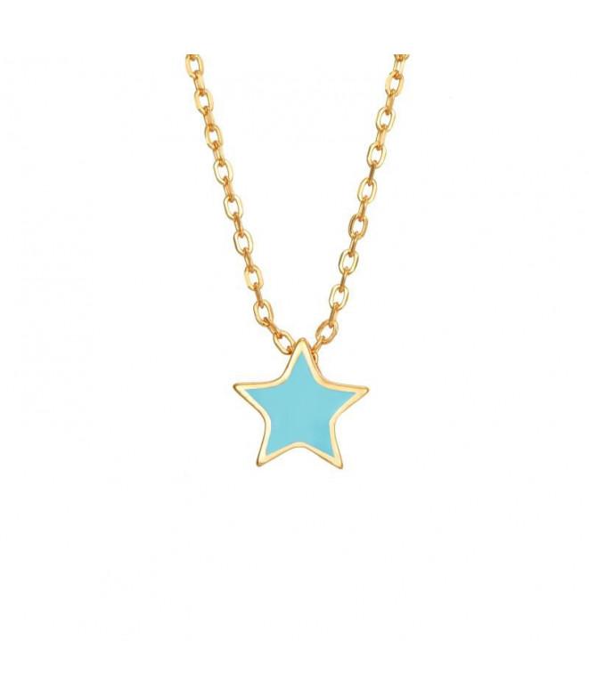 Colgante Star Turquesa
